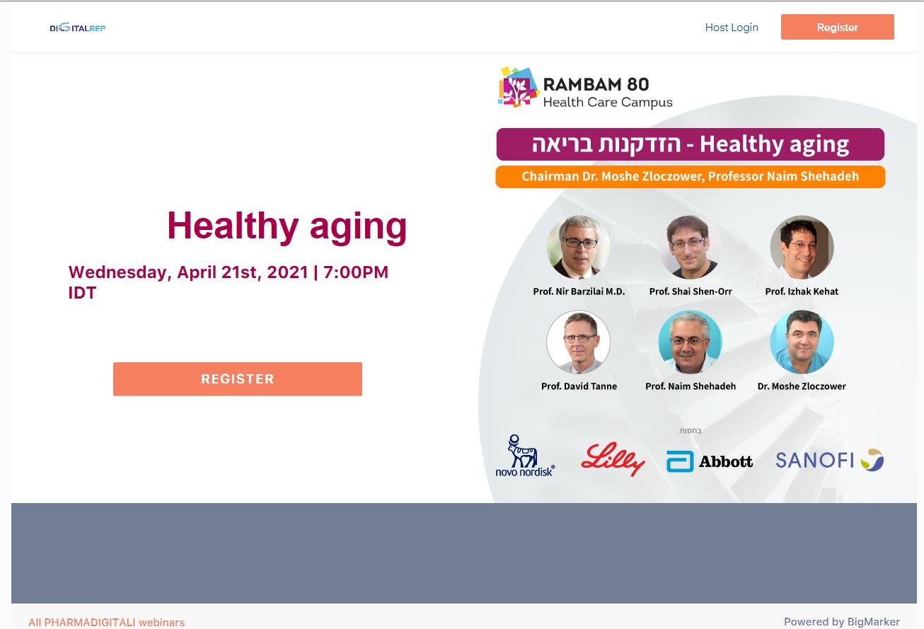 Healthy aging - הזדקנות בריאה   21 אפריל 2021